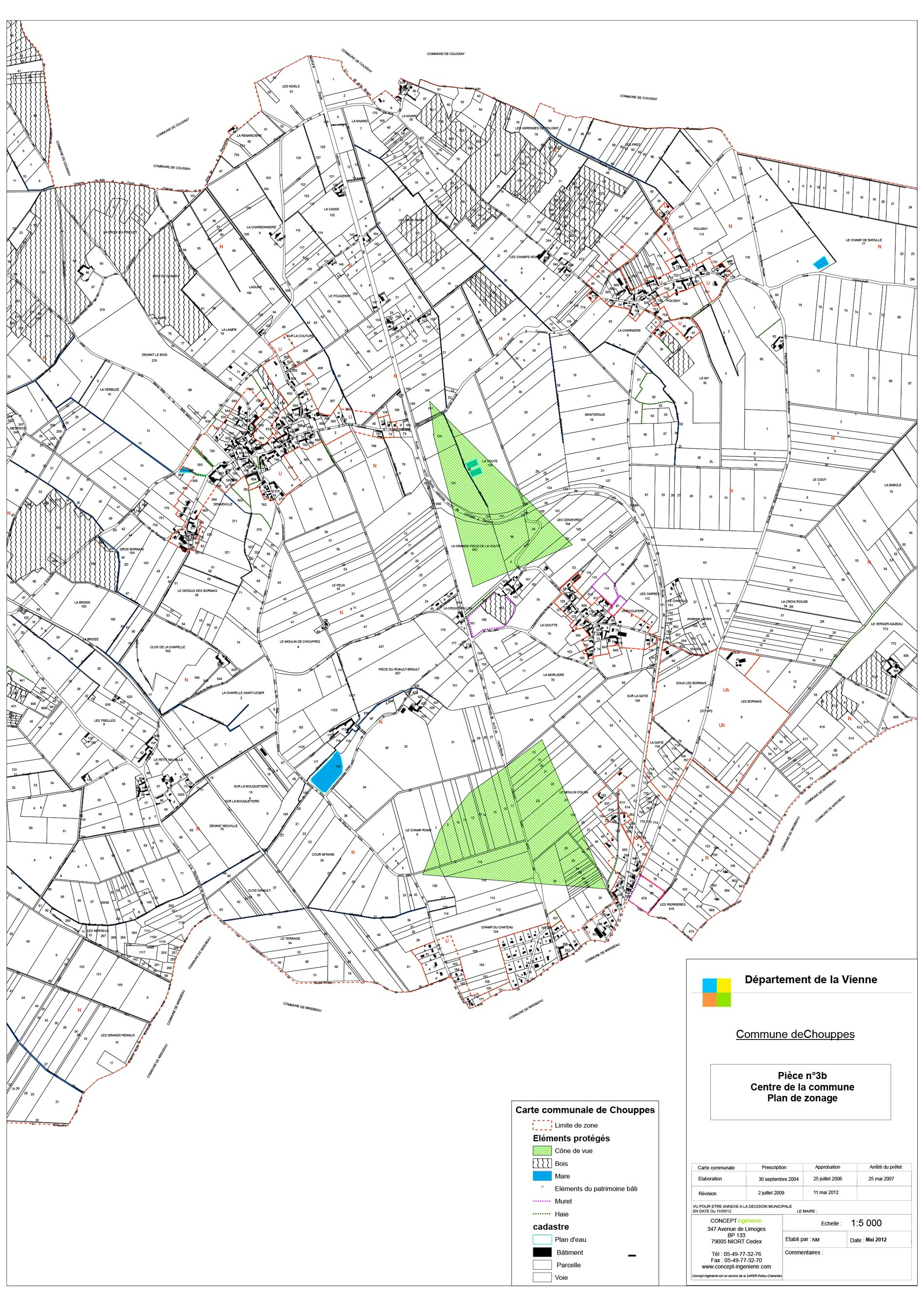 Plan de zonage central
